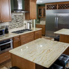 Online Kitchen Cabinet Layout Tool Natural Maple Cabinets Photos Ivory Gold Granite Countertop, Light Colored Counter