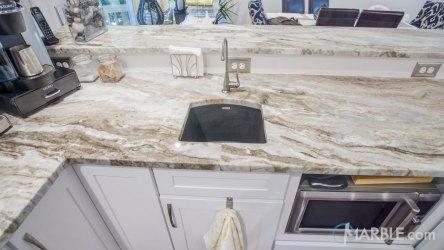 fantasy brown kitchen countertop quartzite marble kitchens modern