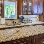 Giallo Ornamental Granite Kitchen Countertop Quarter Bevel Marble Com
