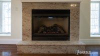 Ivory Brown Granite Fireplace Surround