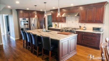 brown fantasy countertops quartzite kitchen marble kitchens