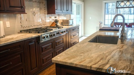 fantasy marble brown countertops kitchen quartzite countertop kitchens granite seams light veins suitable homeowners option gorgeous traditional looking medium