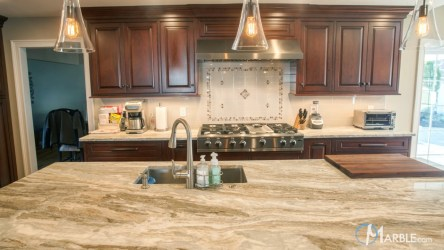 marble fantasy brown quartzite countertops kitchen kitchens granite countertop veins light suitable homeowners option gorgeous traditional looking medium