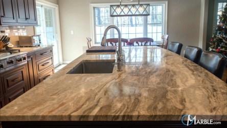 brown fantasy quartzite countertops marble kitchen kitchens