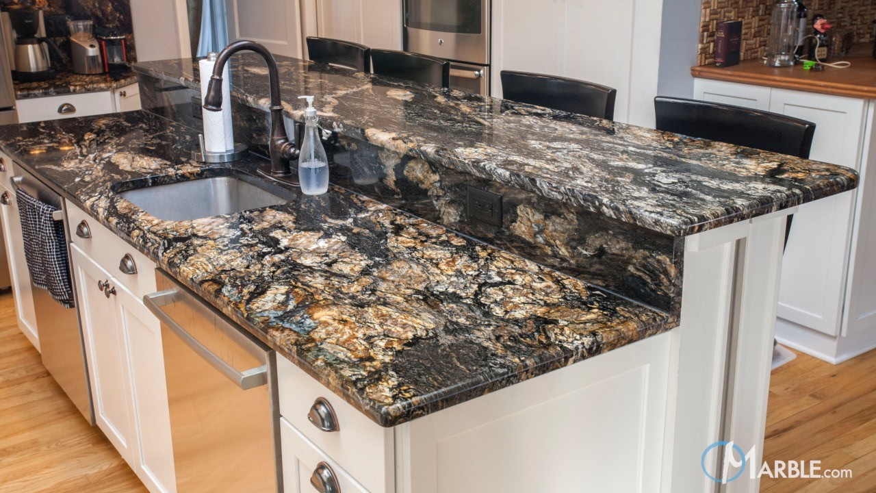 Titanium Black Granite Kitchen Countertops  Marblecom