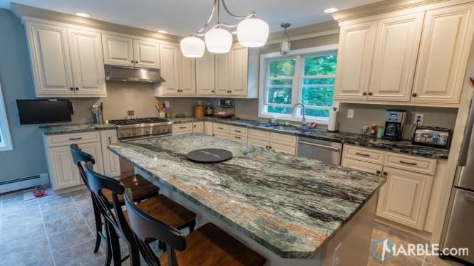 Green Jadeite Granite Kitchen