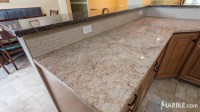 Ivory Gold and Terra Brown Kitchen Granite Countertops ...