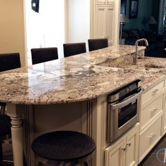 Two Tier Kitchen Island Kidkraft Sets Bianco Antico Countertops With A