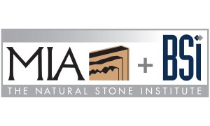 MIA and BSI logo, USA natural stone organazation