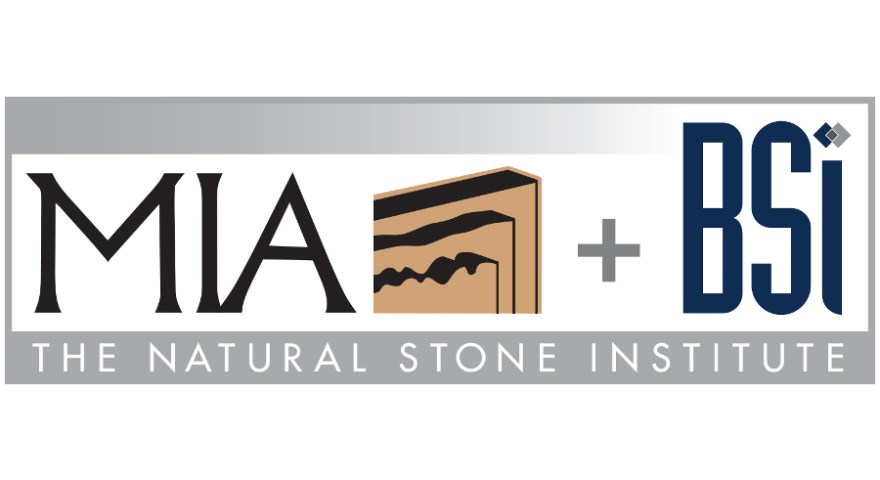 MIA and BSI logo, USA natural stone organazation