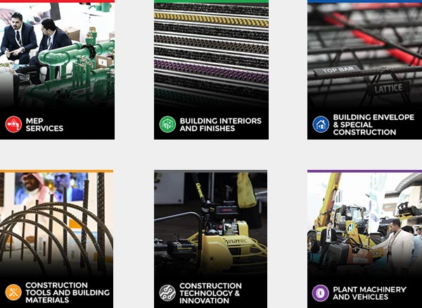 The 6 dedicated product sectors of The Big 5 Construct Egypt show
