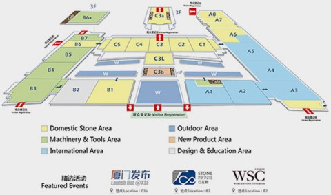 Floorplan of the Stone Xiamen Fair Exhibition 2019