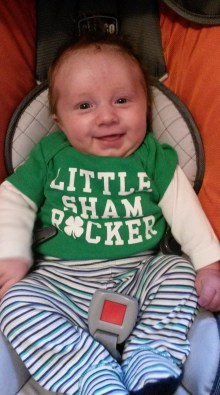 T Man Ready for his first St. Patty's