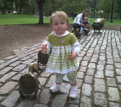 Annie With Ducks