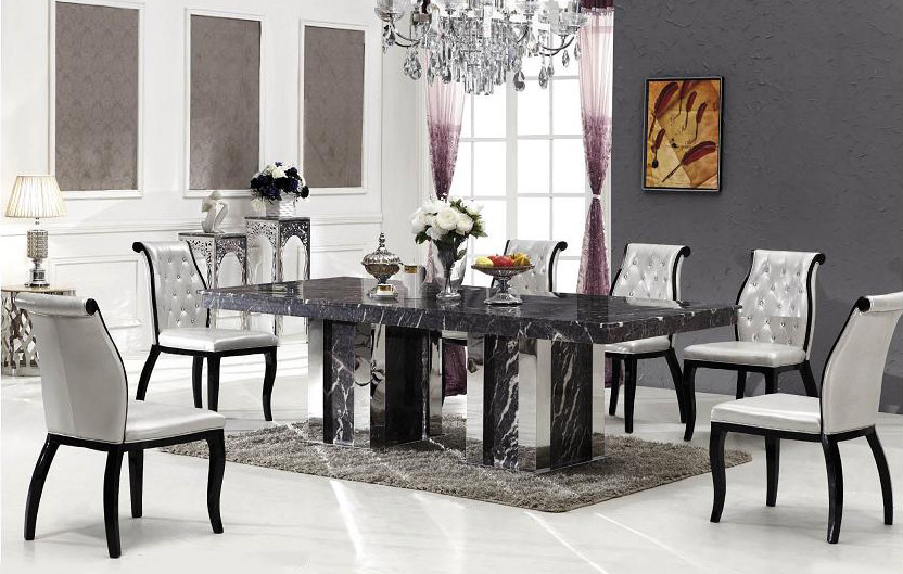 Coffee Table With Seats Bologna Marble Dining Table With 8 Chairs | Grey Marble