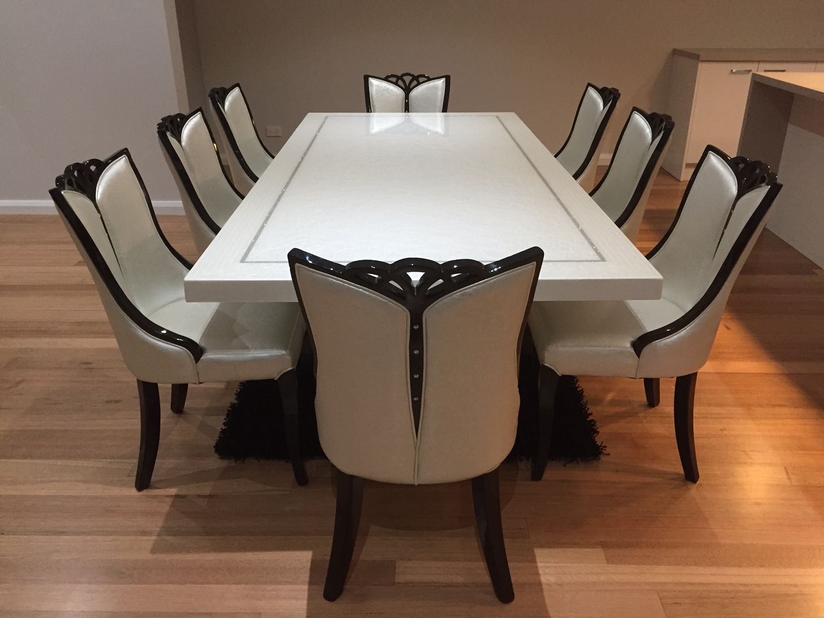 Dining Table 8 Chairs Bianca Marble Dining Table With 8 Chairs