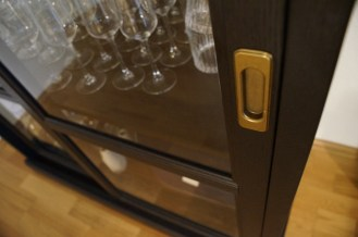 Ikea Malsjö Cabinet - golden details.