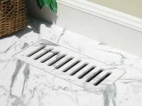 Vent cover & floor registers made with ceramic tile, marble