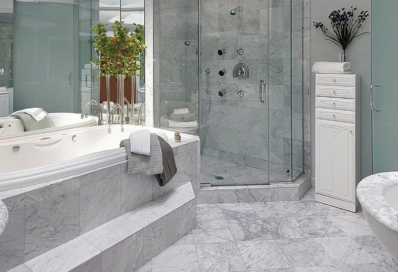 marble tile shower materials how to