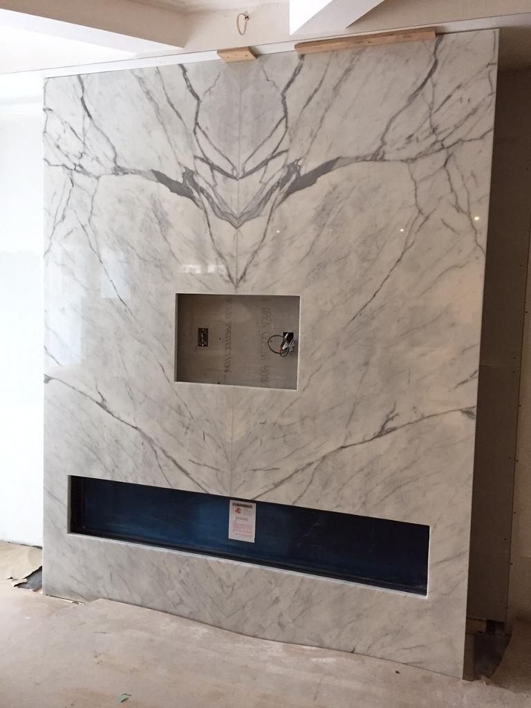 Fireplace Vent Fireplace: Statuario Bookmatched | Marble Trend | Marble