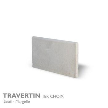 Seuil et margelle TRAVERTIN 1er Choix 61 x 33 cm