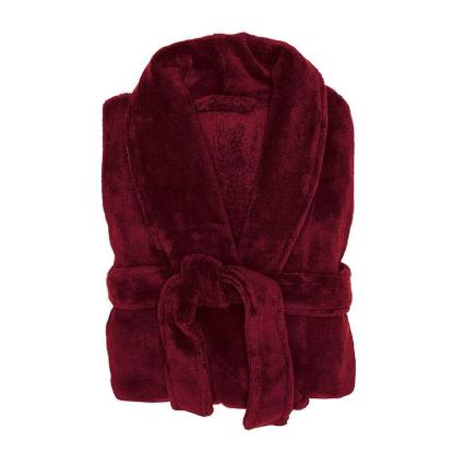Microplush robe merlot