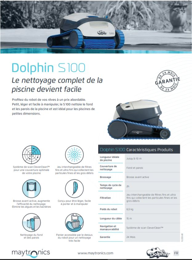 Robot Dolphin S 100, Robot Dolphin S 100, Marc Robin Piscines