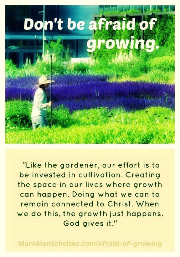 Are you afraid of growing? -- www.MarcAlanSchelske.com
