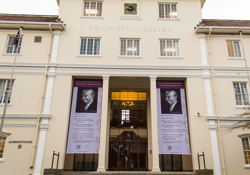 Banners at University of Stellenbosch 1