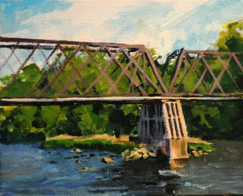 The Old Railroad Bridge 8x10 $175