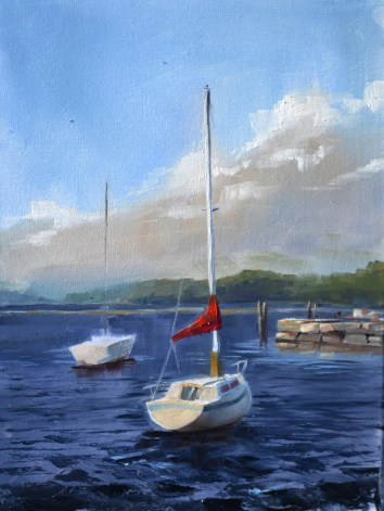 No Sails on Champlain 12x16 $250