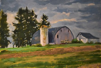 Shining Farm on the Hill 12x16 $450
