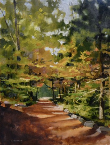 Justin's Dappled Path 20x24 $850