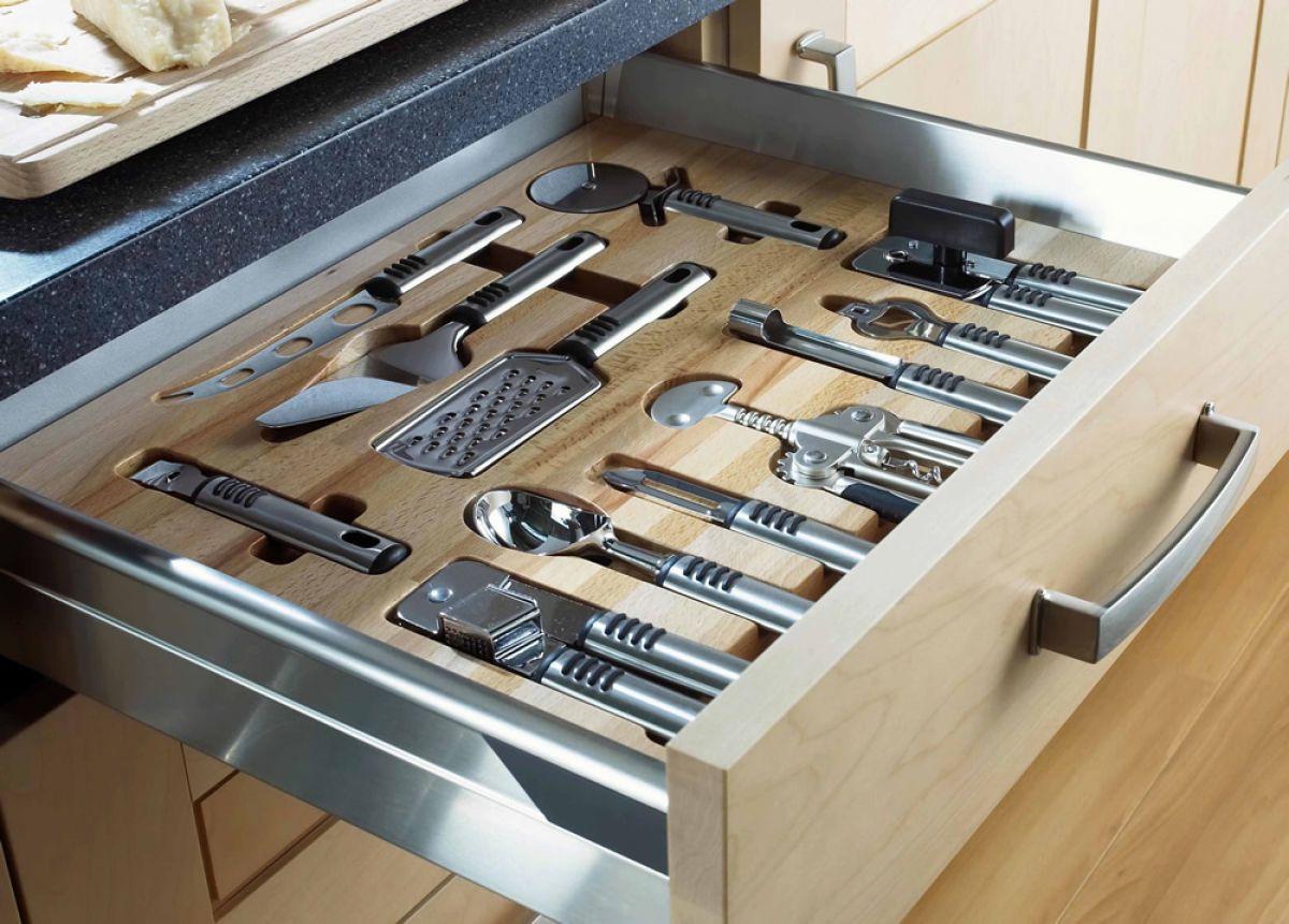 kitchen utensil drawer organizer white set unique storage ideas marc and mandy show
