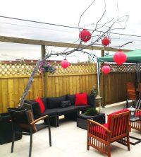 DIY Tree Branch Patio Decor