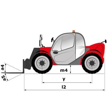 Schéma d'encombrement (vue de côté), MLT 625