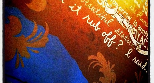 "Langston Hughes poem (""Cultural Exchange"") on the wall by rpongsaj"