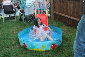 Hannah making a big splash!