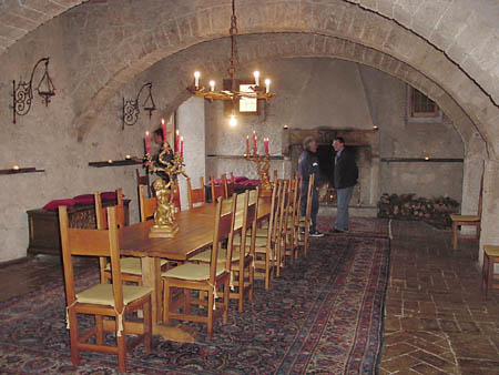 castle dining room image