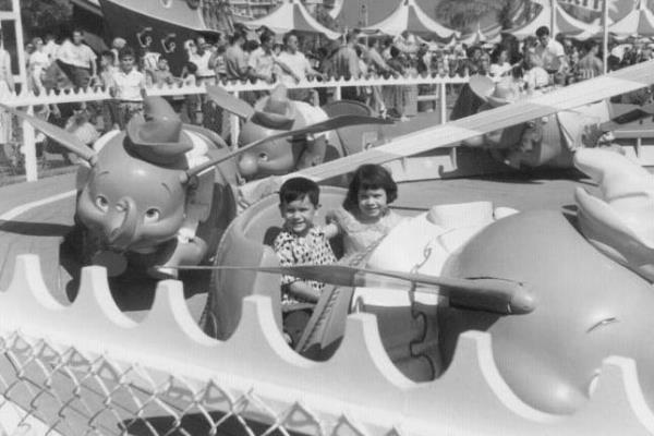 Disneyland 1955 Dumbo Elephant Ride