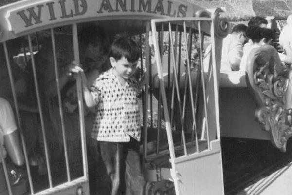 Disneyland 1955 wild animal cage image