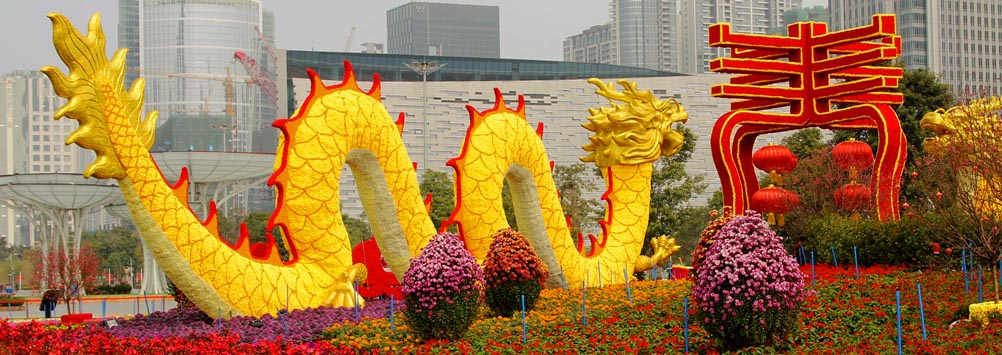 An American in China flower dragon impage