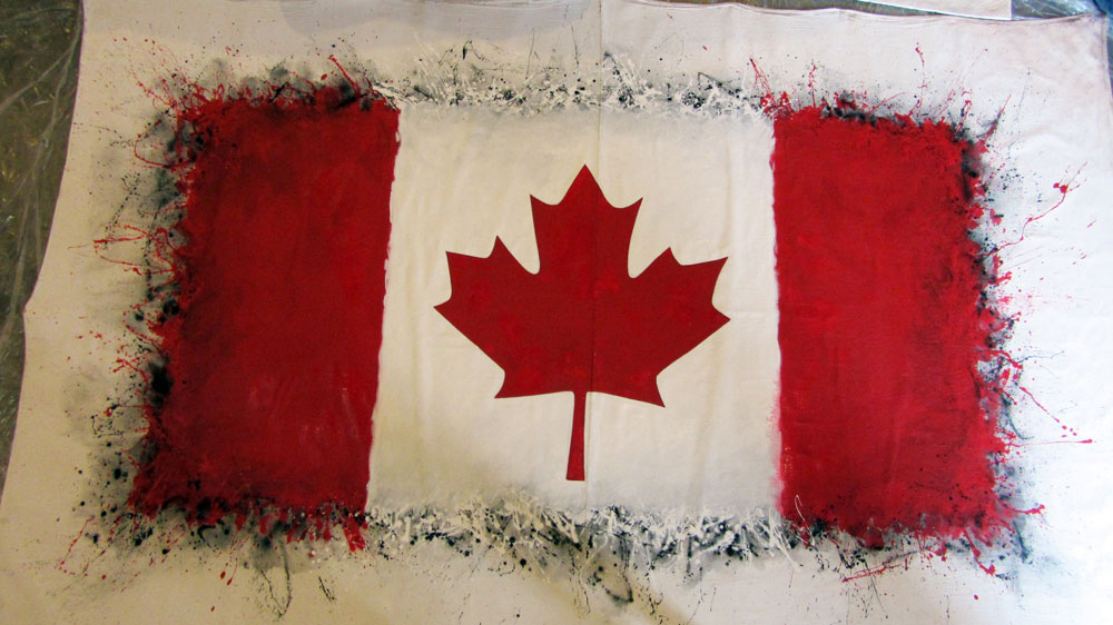 Canada Flag body painting  marcdoironca