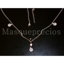 Piercing de ombligo con cristal brillante y cadena