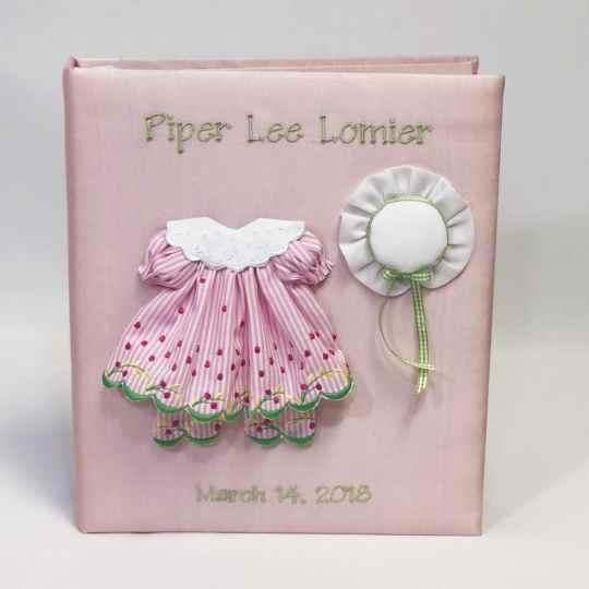 Baby-Memory-Book-KBRE-24G-Pink-Silk-Thread-Fun-Celadon-Thread