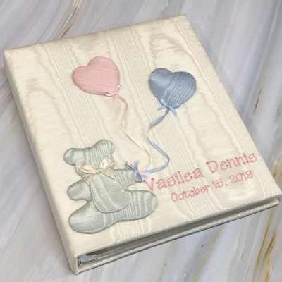Baby-Memory-Book-KBRE-33-Cream-Thread-Fun-Baby-Pink-Thread