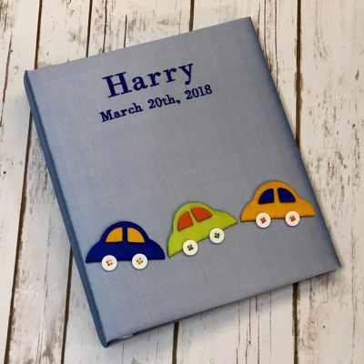 Baby-Memory-Book-KBRE-CC-Blue-Bodoni-Medium-Blue-Thread