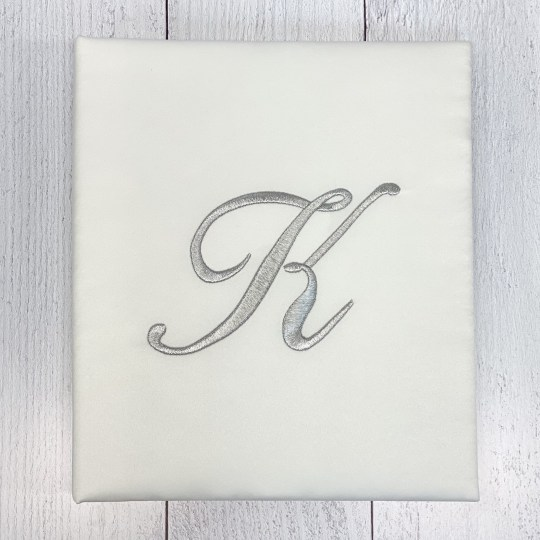 Large-Baby-Photo-Album-AR11-MS1-Candlelight-Edwardian-Metallic-Silver-Thread
