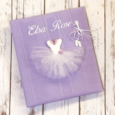 Large Ring Bound Photo Album In Moiré With Ballerina Tutu