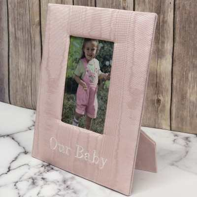 Baby Photo Frame In Baby Moiré
